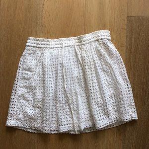 Madewell White Skirt